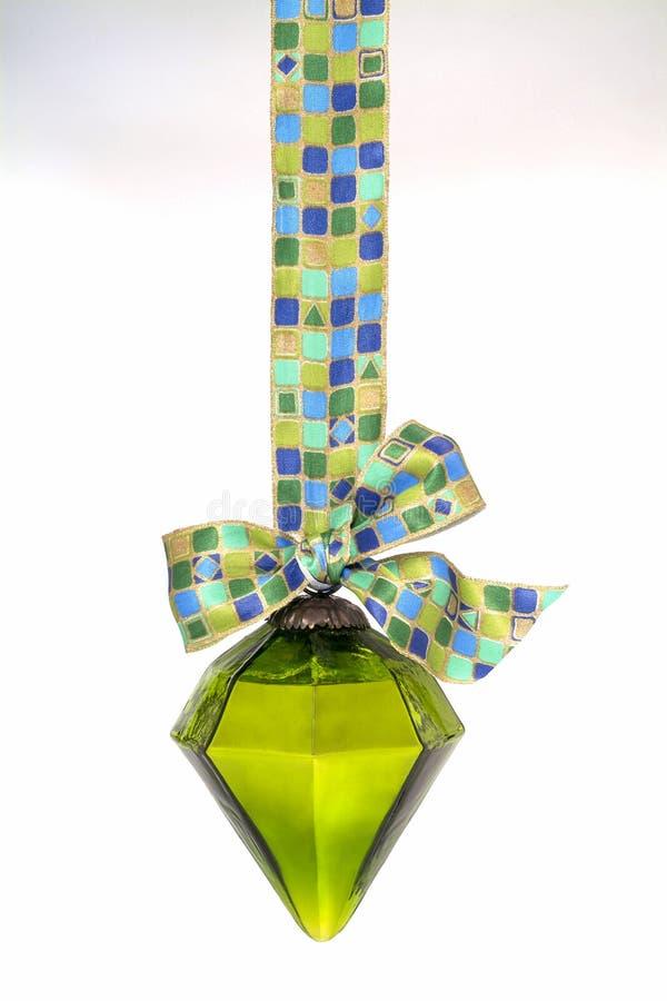Quinquilharia do Natal no verde imagem de stock royalty free