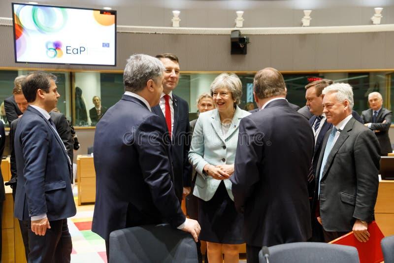 Quinta cimeira oriental da parceria em Bruxelas fotos de stock royalty free