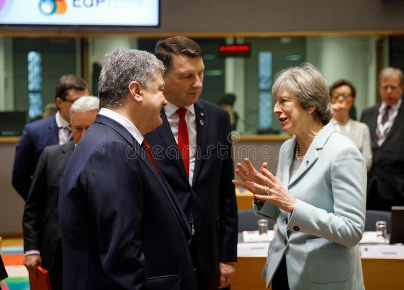 Quinta cimeira oriental da parceria em Bruxelas foto de stock