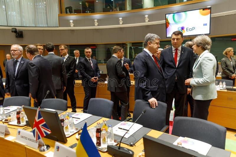Quinta cimeira oriental da parceria em Bruxelas fotografia de stock royalty free