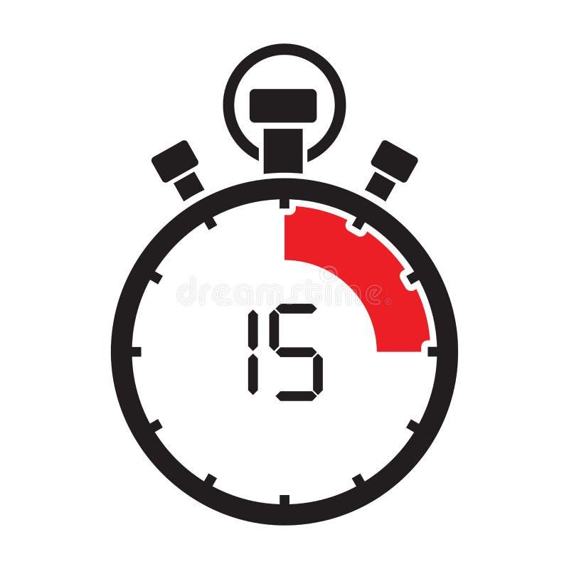 Quinta contagem regressiva minúscula adolescente do cronômetro ilustração stock