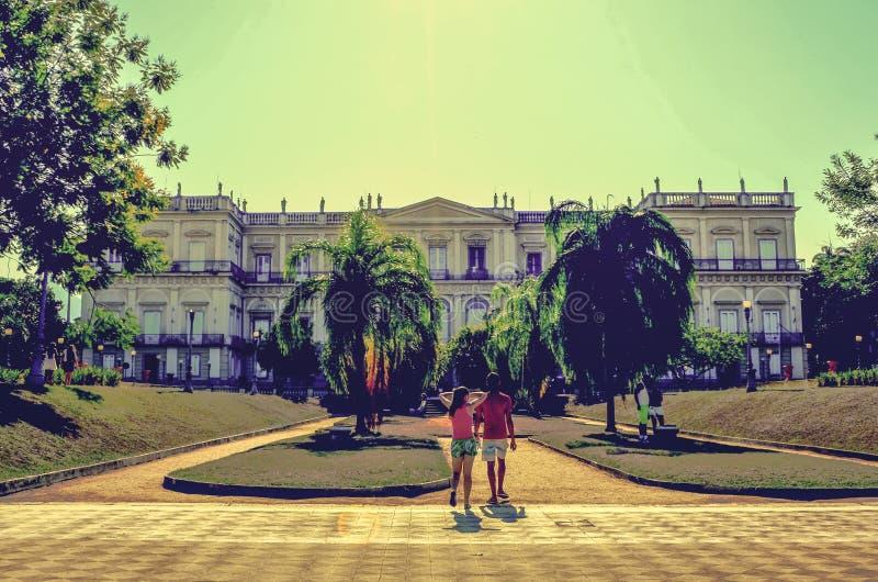 Quinta da boa vista Miejski park Historyczny miejsce dok?d rodzina kr?lewska ?y? w xix wiek zdjęcie royalty free
