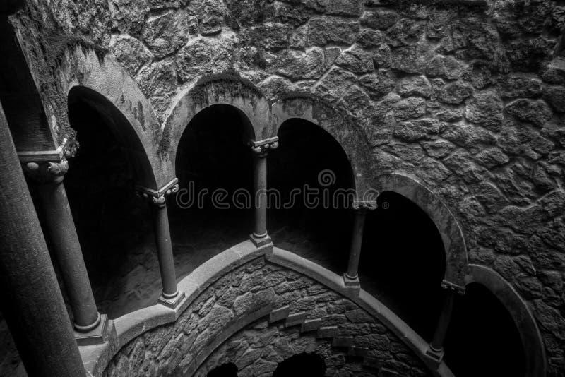 Quinta da Regaleira, das Freimaurersymbol von Sintra, gut lizenzfreie stockfotografie