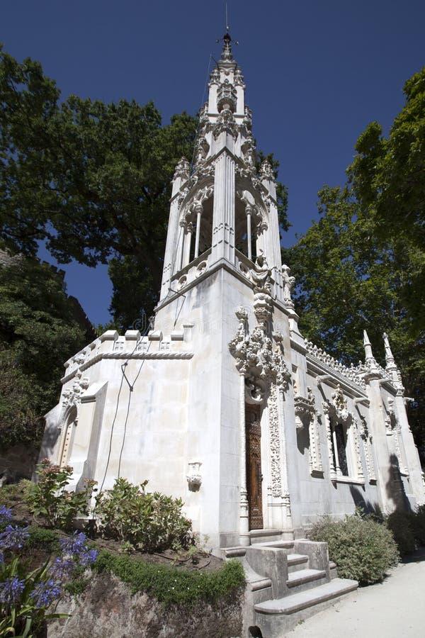 Quinta da Regaleira kapell, Sintra, Portugal, 2012 royaltyfri foto