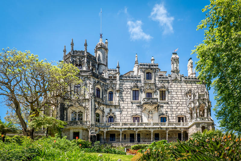 Quinta de la Regaleira Sintra, Portugal fotografering för bildbyråer