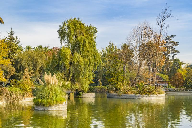 Quinta normalna park, Santiago de Chile obraz royalty free