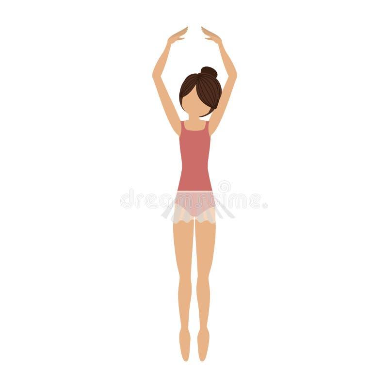 Quintas puntas del pie de la posición del bailarín colorido libre illustration