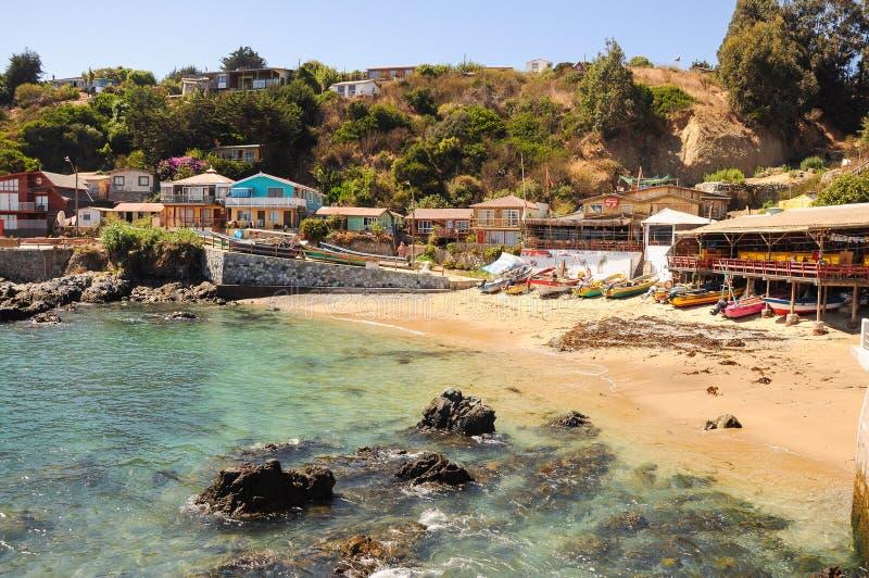 Quintay visserijhaven in Chili royalty-vrije stock fotografie