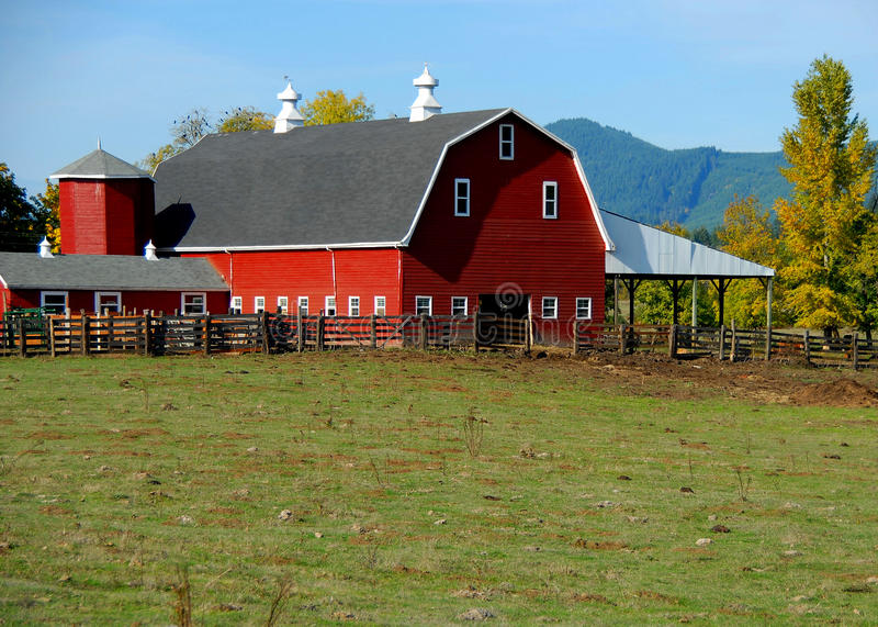 The Quintessential Red Barn royalty free stock photo