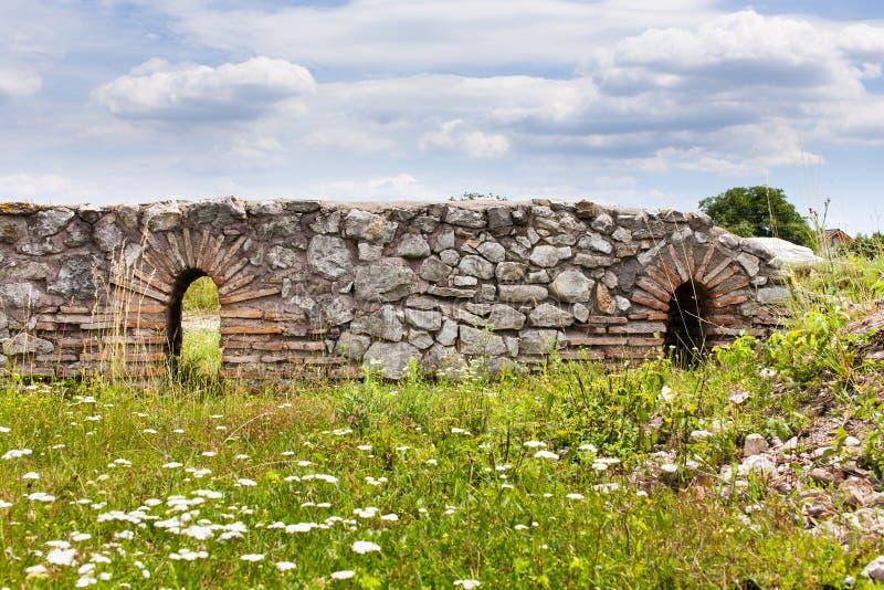 quinti Legione romana Castra in Romania fotografia stock libera da diritti
