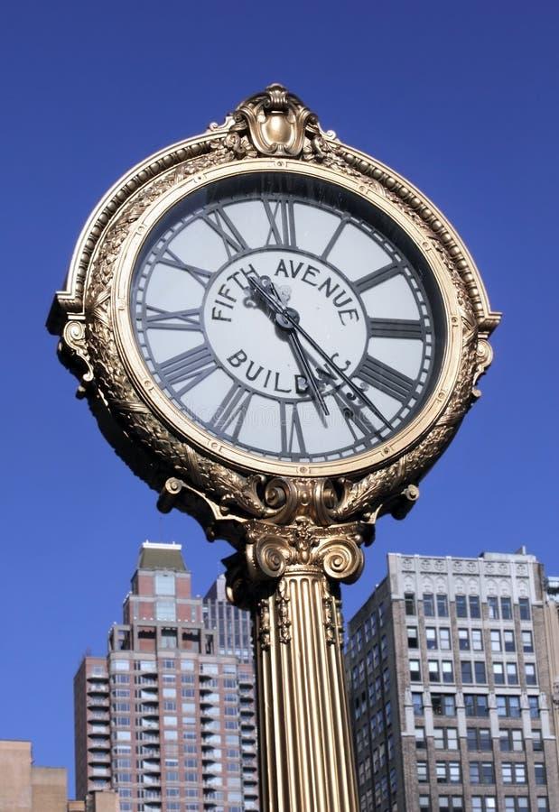 quinti Orologio del viale, New York City fotografia stock libera da diritti