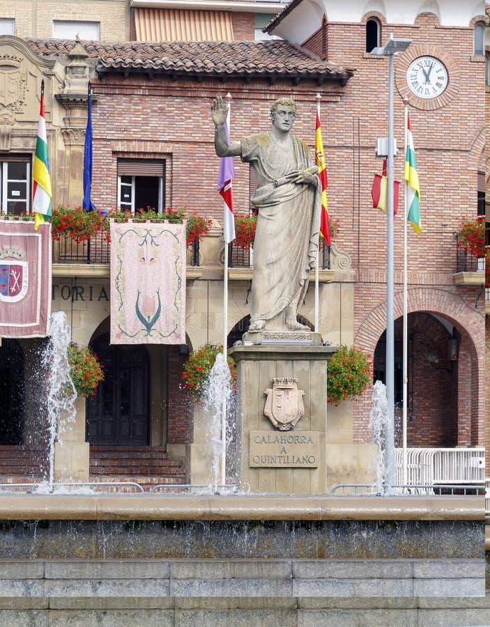 Quintilian statua w jego rodzimym Calahorra obrazy stock