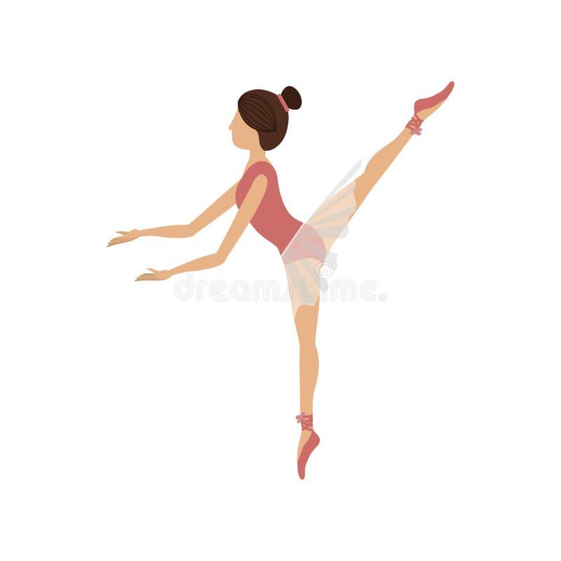 Quinto arabesque de la actitud colorida del bailarín ilustración del vector