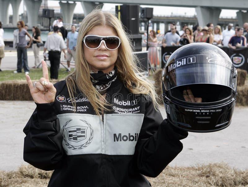 quinto Super Bowl annuale Grand Prix di Cadillac della celebrità fotografia stock
