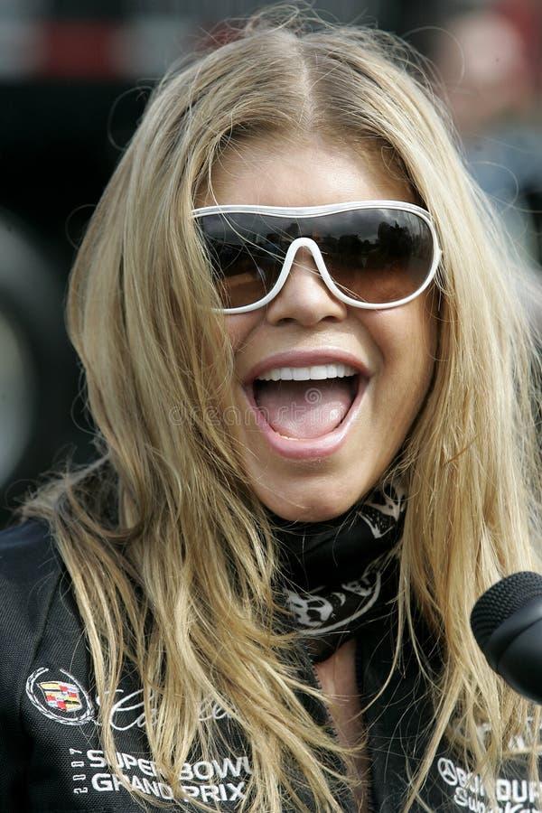 quinto Super Bowl annuale Grand Prix di Cadillac della celebrità fotografia stock libera da diritti