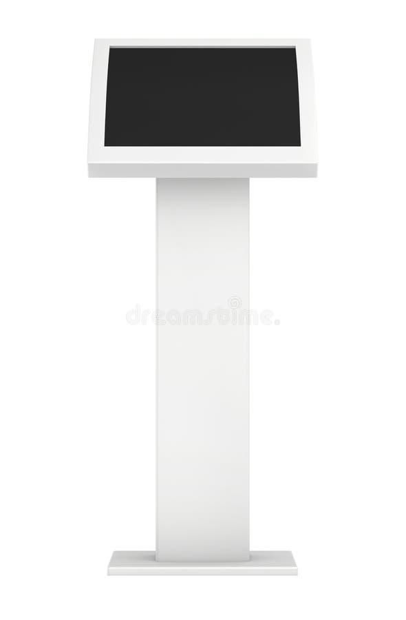 Quiosco de información Terminal de la información quiosco interactivo en el fondo blanco imágenes de archivo libres de regalías