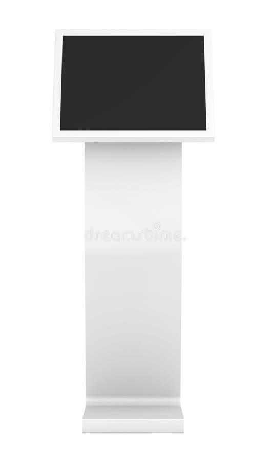 Quiosco de información Terminal de la información quiosco interactivo en el fondo blanco imagenes de archivo