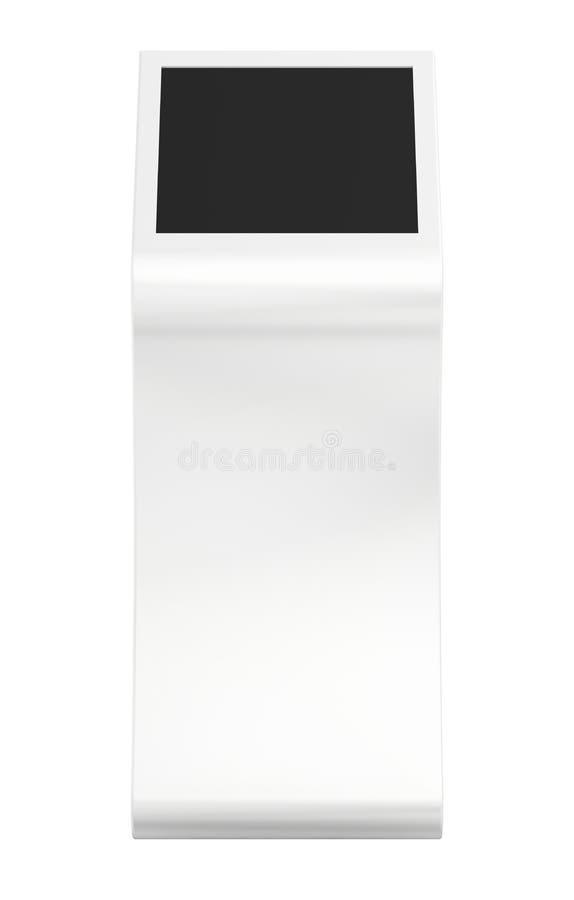 Quiosco de información Terminal de la información quiosco interactivo en el fondo blanco fotografía de archivo libre de regalías