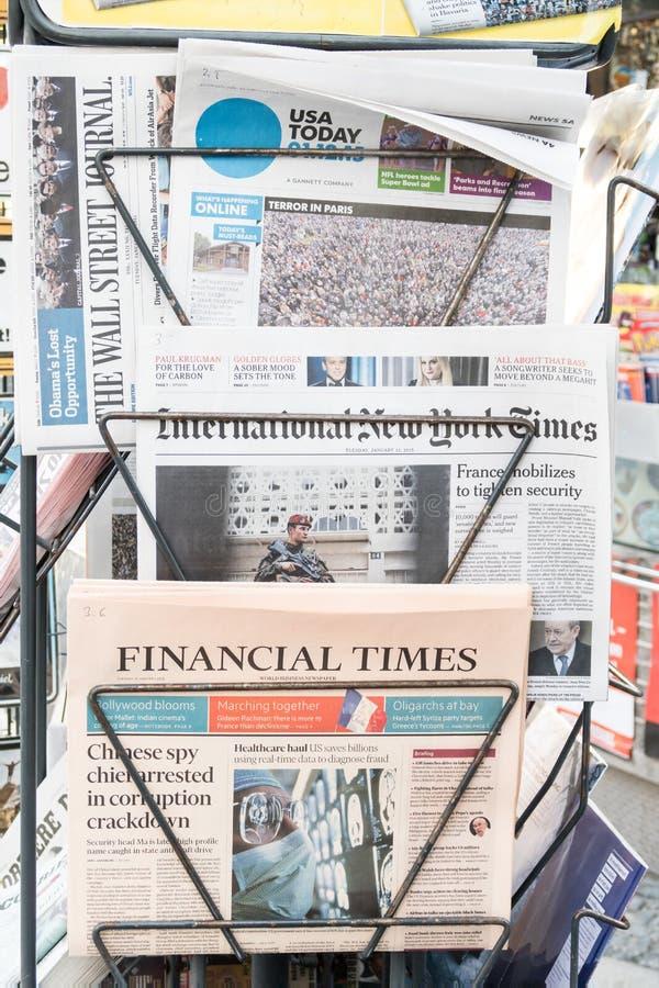 Quiosco de periódicos americano imágenes de archivo libres de regalías