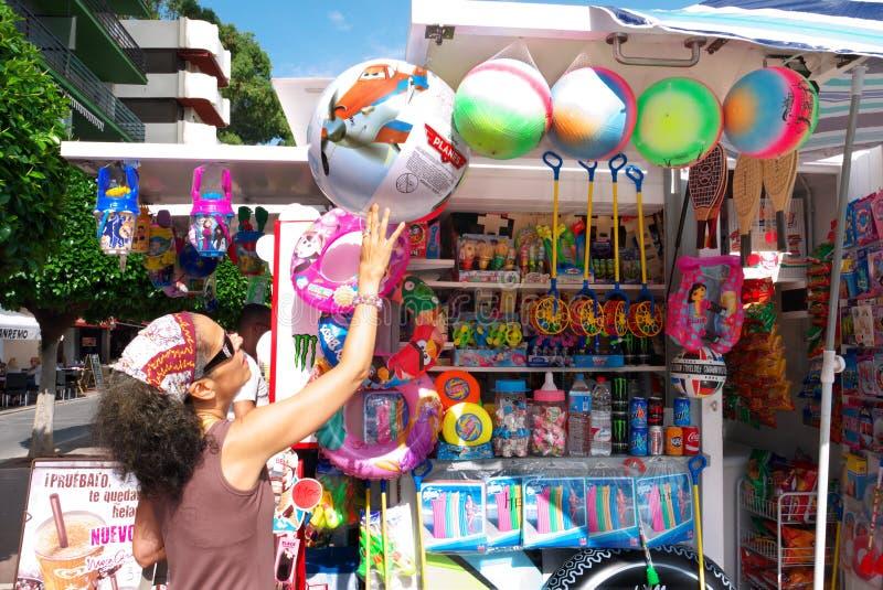 Quiosco España de la playa foto de archivo libre de regalías