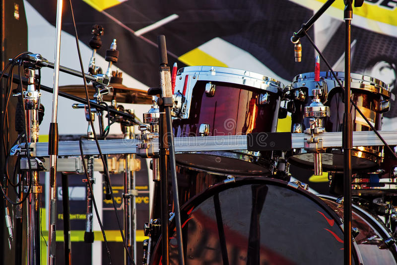 quipment koncertowa nowożytna muzykalna scena zdjęcia royalty free