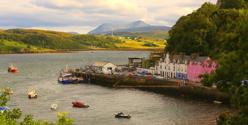 Quiraing山风景看法在斯凯岛小岛,苏格兰高地,英国的 免版税图库摄影