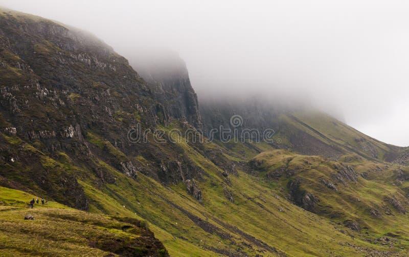 Quiraing bergskedja, Isle av Skye, Skottland royaltyfri foto
