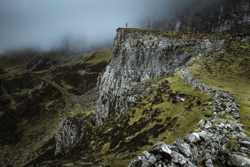 Quiraing - die schönste Landschaft in Schottland lizenzfreie stockbilder