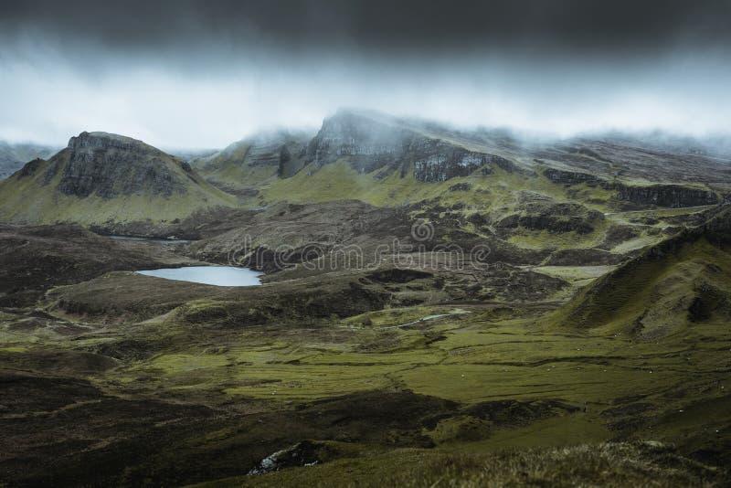 Quiraing - die sch?nste Landschaft in Schottland lizenzfreie stockfotografie