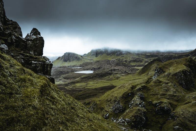 Quiraing - die sch?nste Landschaft in Schottland stockfotos