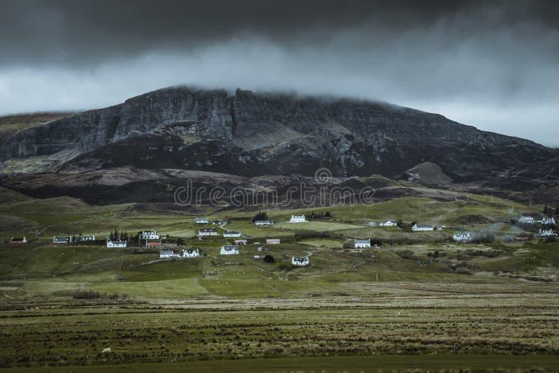 Quiraing - die sch?nste Landschaft in Schottland stockfotografie