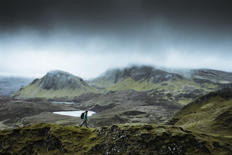 Quiraing - die sch?nste Landschaft in Schottland lizenzfreies stockbild