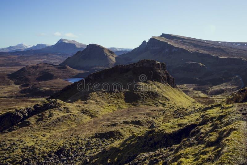 Quiraing, ilha de Skye, Escócia fotografia de stock