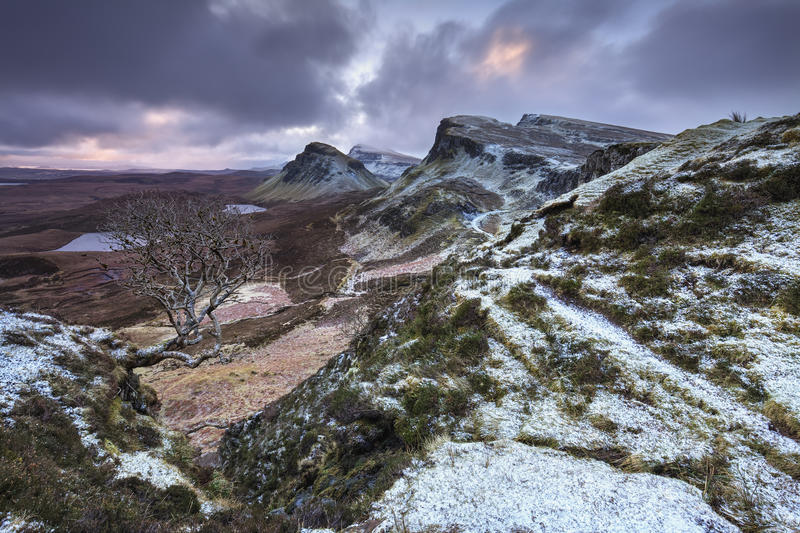 Quiraing, isola di Skye, Scozia immagini stock