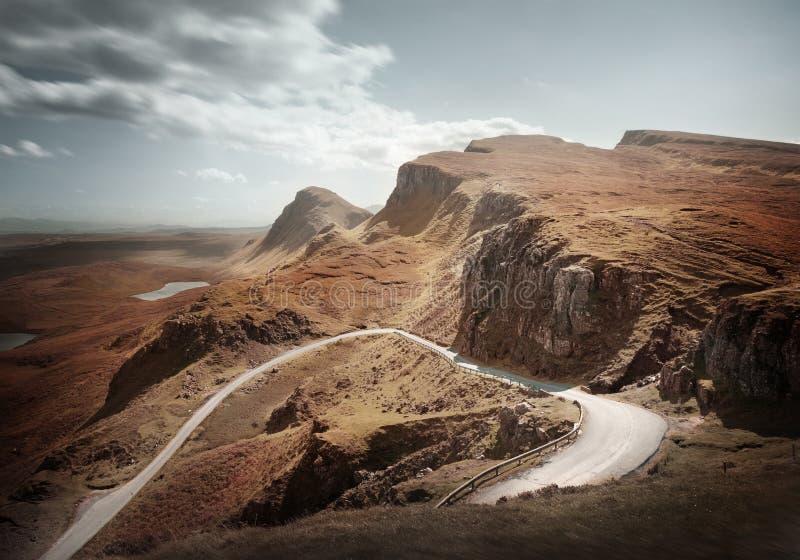 The Quiraing Landscape Isle Of Skye - Scotland royalty free stock photo