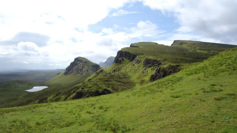 Quiraing na ilha de Skye em Escócia foto de stock royalty free