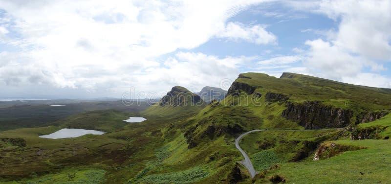 Quiraing na ilha de Skye em Escócia fotos de stock royalty free
