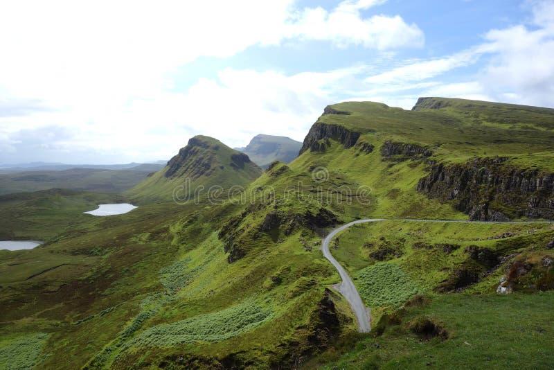 Quiraing na ilha de Skye em Escócia imagem de stock