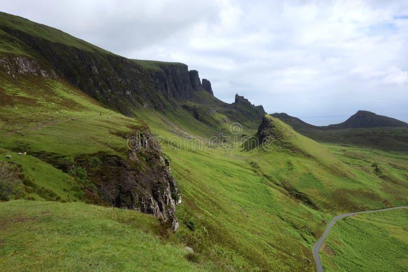 Quiraing na ilha de Skye em Escócia fotografia de stock