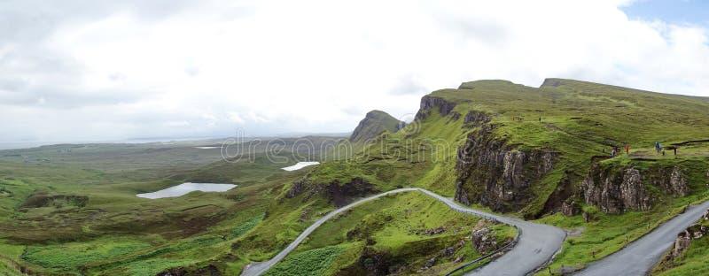 Quiraing na ilha de Skye em Escócia imagens de stock