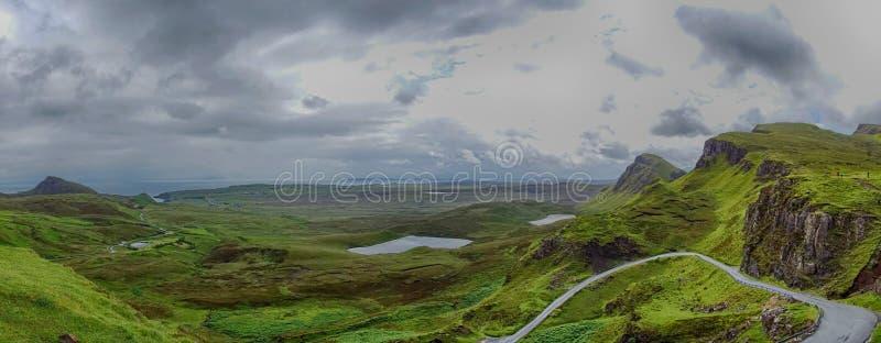 Quiraing na ilha de Skye em Escócia imagem de stock royalty free