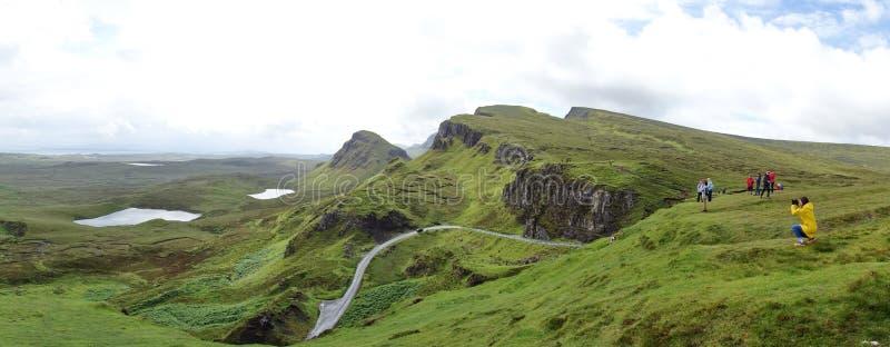 Quiraing na ilha de Skye em Escócia fotos de stock