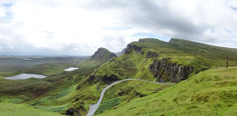 Quiraing na ilha de Skye em Escócia fotografia de stock royalty free