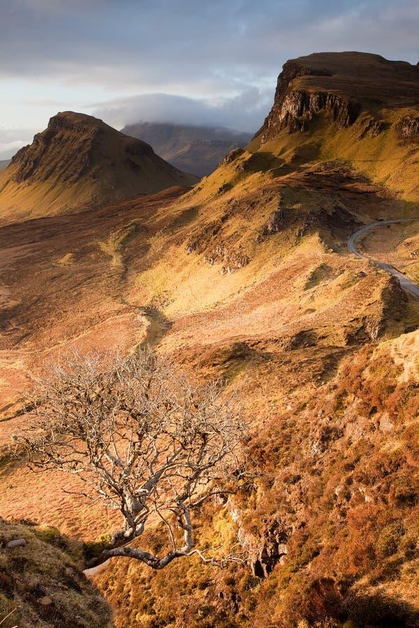 Quiraing op het Eiland van Skye stock afbeelding