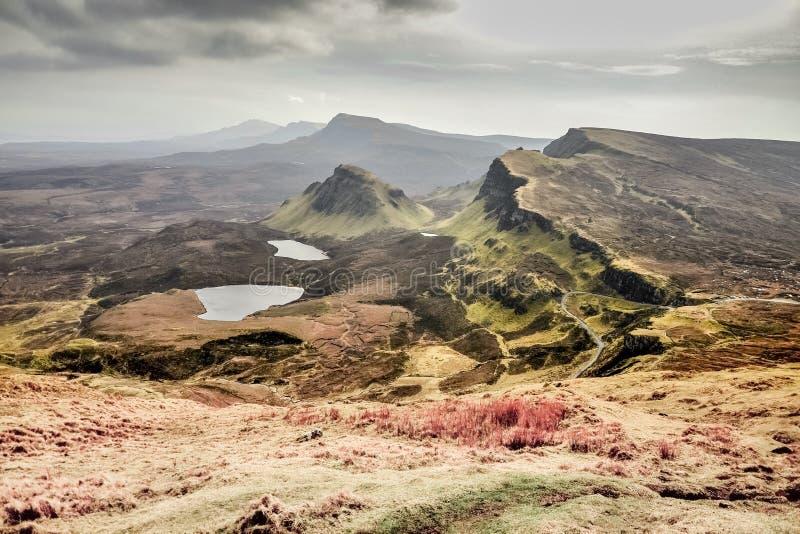 Quiraing - paisaje espectacular de la isla de Skye foto de archivo libre de regalías
