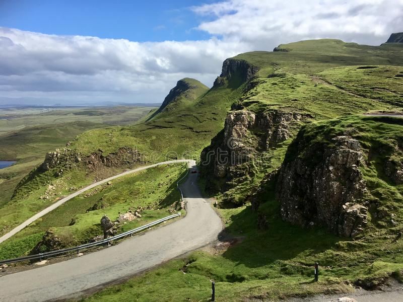 Quiraing with Road stock photo