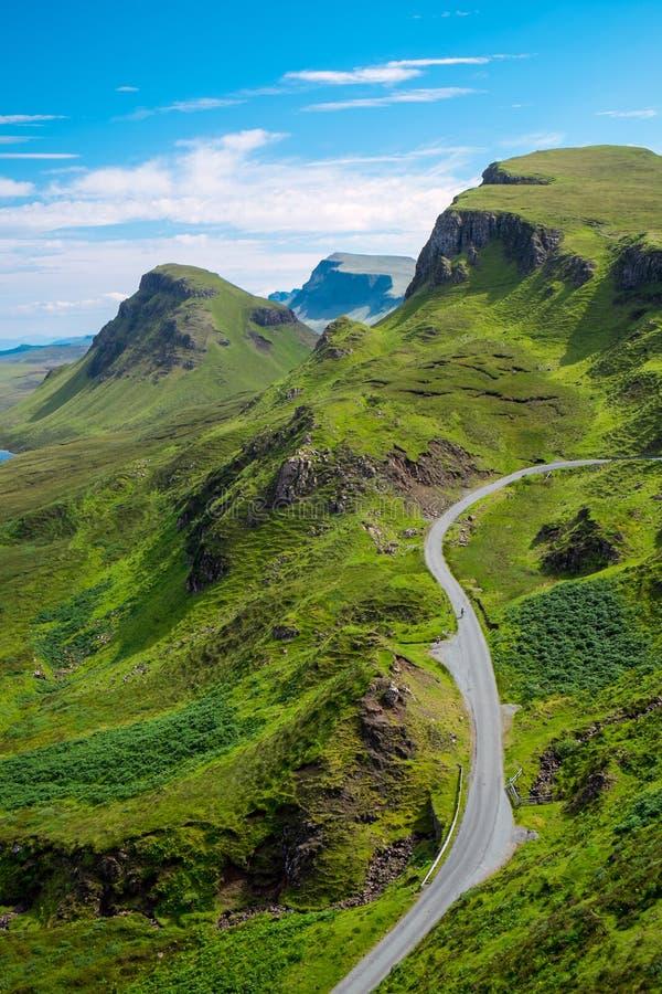 The Quiraings, Isle of Skye. The beautiful Quiraings on the Isle of Skye, Scotland royalty free stock photography