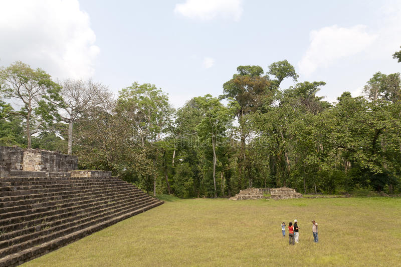 Quirigua Nationalpark in Guatemala stockbilder