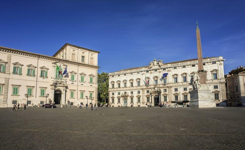 Quirinal广场在罗马 免版税库存照片