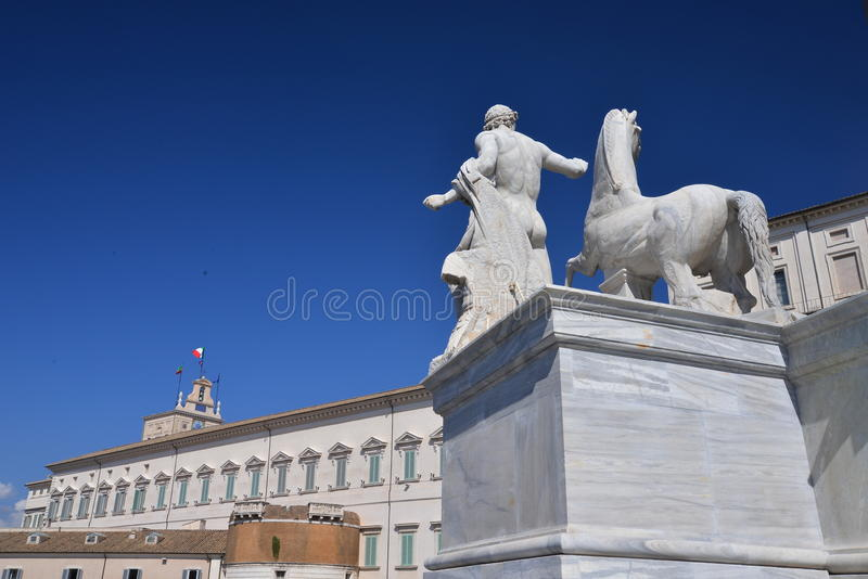 Quirinale Palace in Rome, Italy. stock photo